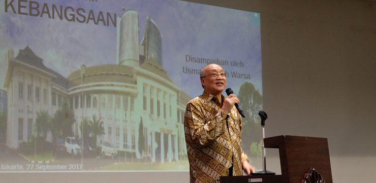Kuliah Umum Guru Besar FKUI, Prof. Usman Chatib Warsa Ingatkan Pentingnya Menjaga Semangat Kebangsaan