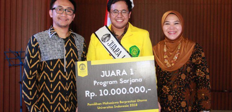Angga Wiratama Lokeswara, Mahasiswa Berprestasi Utama UI 2018