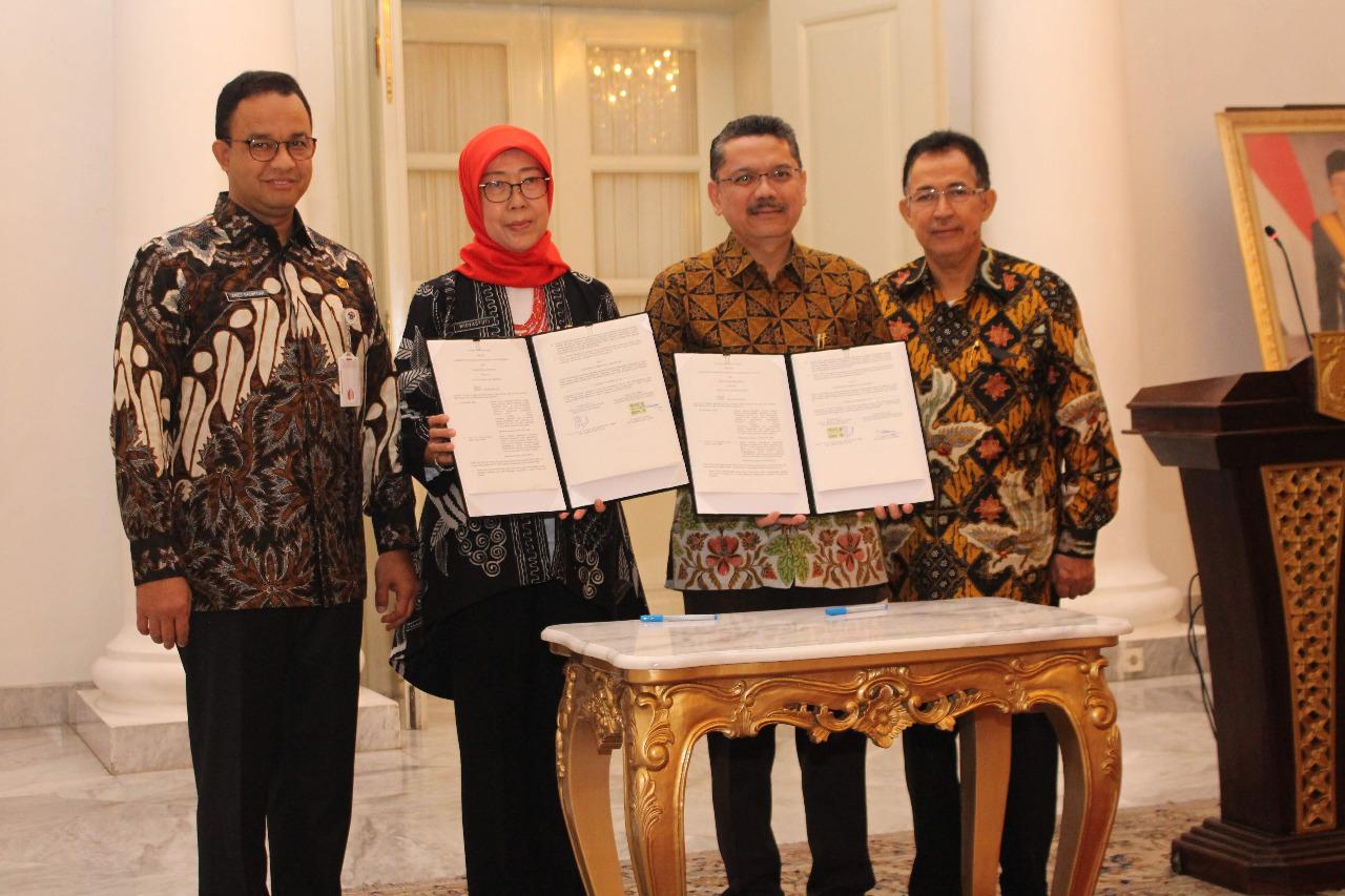 Penandatanganan Perjanjian Kerja Sama AHS UI dengan Dinas Kesehatan DKI Jakarta