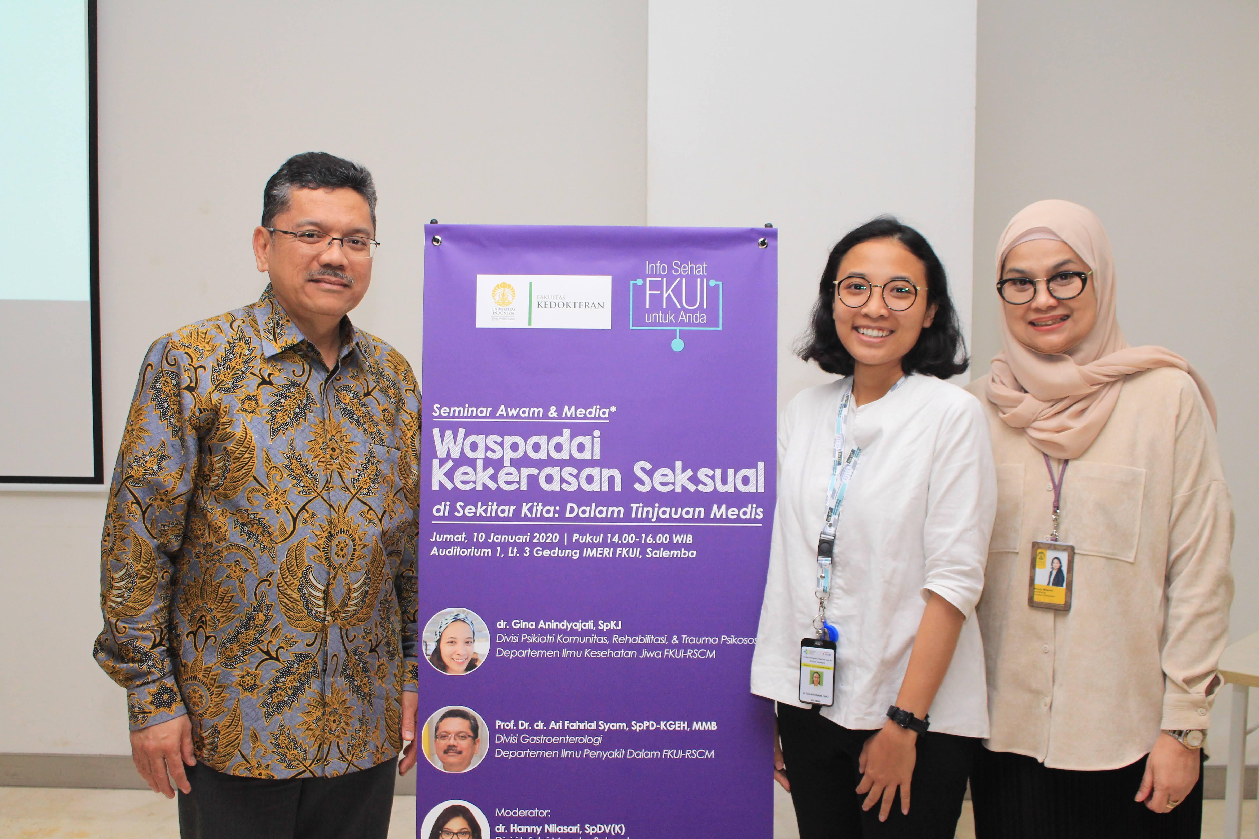 """Seminar Awam """"Waspada Kekerasan Seksual di Sekitar Kita: Dalam Tinjauan Medis"""