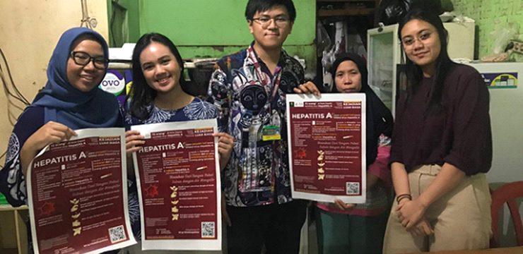 KLB Hepatitis A, Mahasiswa FKUI Berikan Penyuluhan Kesehatan