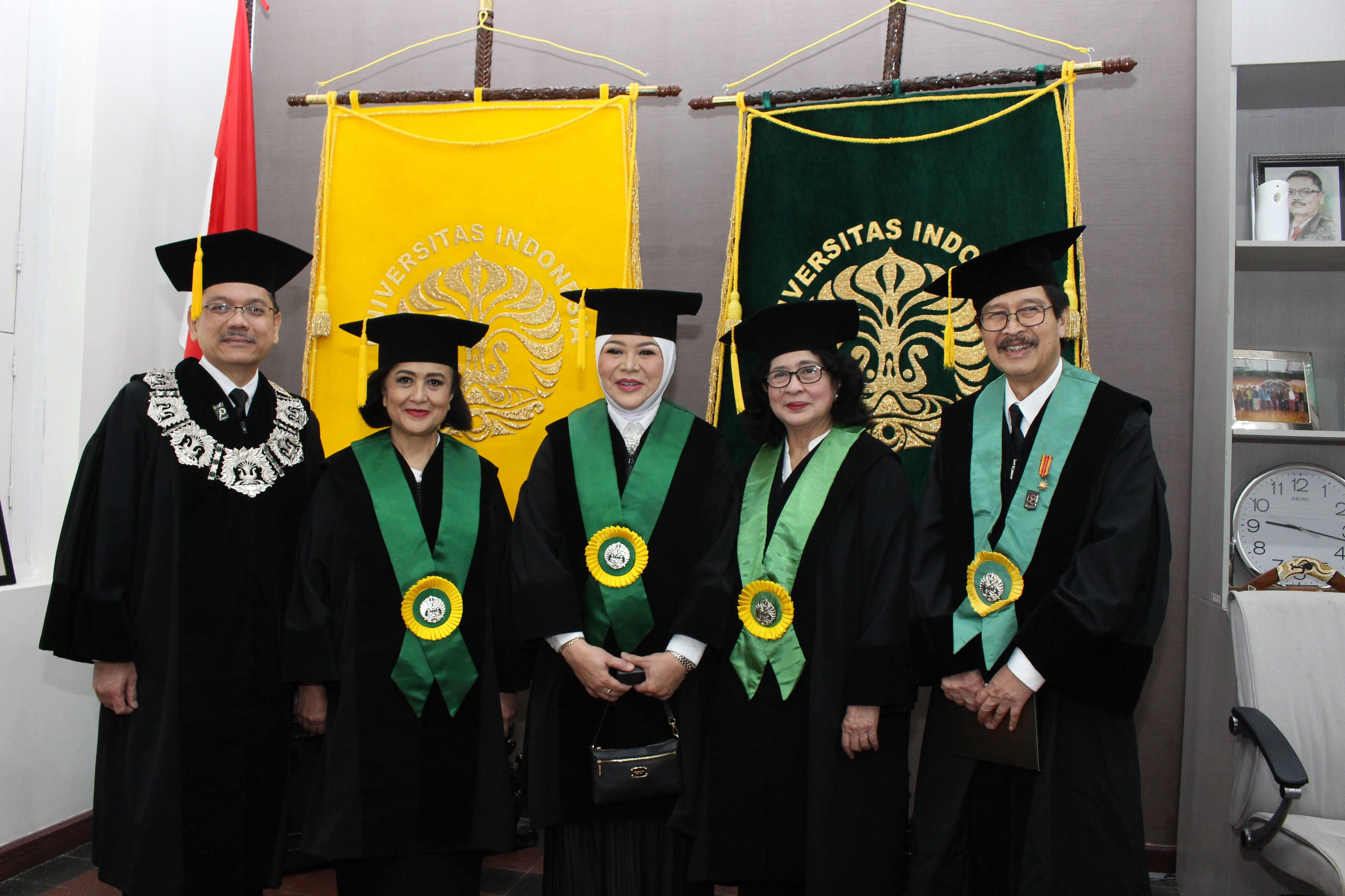 Pengukuhan Guru Besar Prof. Dr. dr. Widya Artini Wiyogo, SpM(K) & Prof. Dr. dr. Dwiana Ocviyanti, SpOG(K), MPH