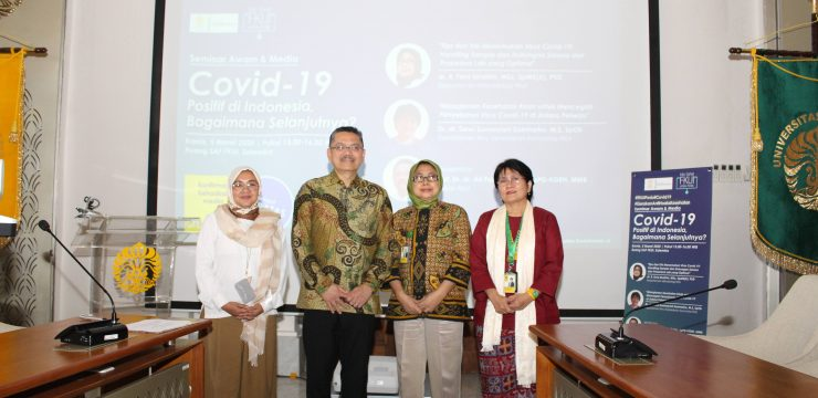 """Seminar Awam & Media """" Covid 19 Positif di Indonesia, bagaimana selanjutnya"""