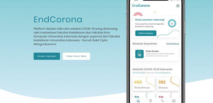 EndCorona, Aplikasi Karya Mahasiswa UI untuk Asesmen Risiko Covid-19