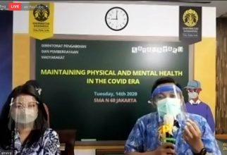 Tim Katamataku UI Beri Penyuluhan Kesehatan Mental dan Fisik Secara Daring bagi Siswa dan Guru SMA