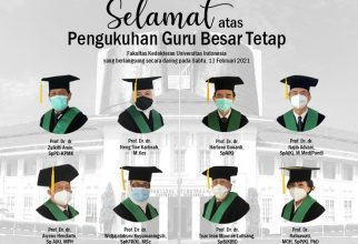 UI Kukuhkan Delapan Guru Besar Fakultas Kedokteran