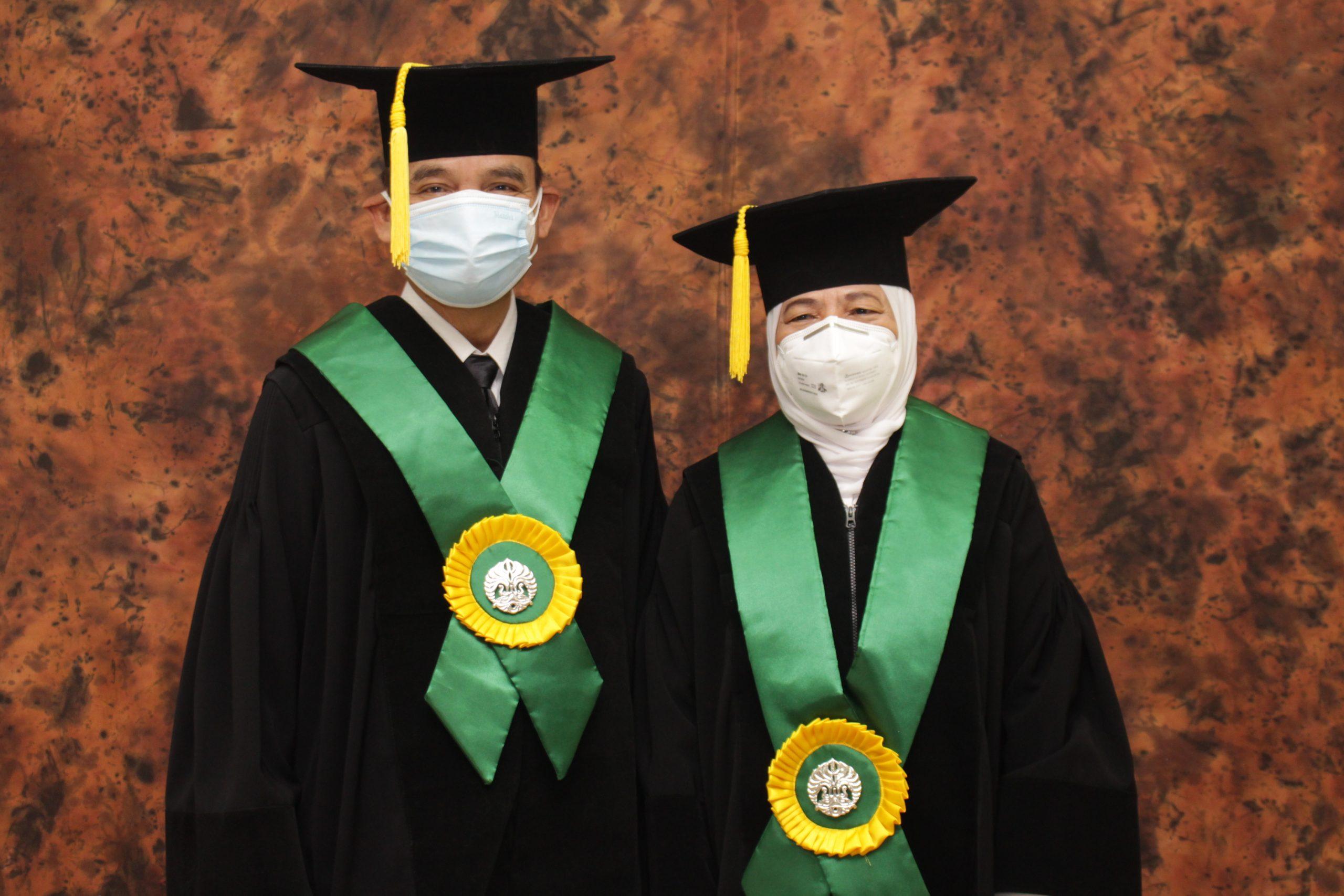 Pengukuhan Guru Besar Prof. dr.  Elisna Syahruddin,  Sp.P(K), Ph.D dan Prof. dr.  Muchtaruddin Mansyur, MS, PKK, PGDRM, Sp.Ok., Ph.D