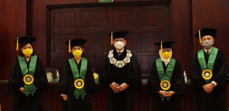 Pengukuhan Guru Besar Prof. Dr. dr.  Pustika Amalia Wahidiyat,  SpA(K), Prof. Dr. dr.  Rinawati Rohsiswatmo,  SpA(K), Prof. Dr. dr.  Pramita Gayatri,  SpA(K), Prof. Dr. dr.  Aman Bhakti Pulungan,  SpA(K), FAAP, FRCPI (Hon.)