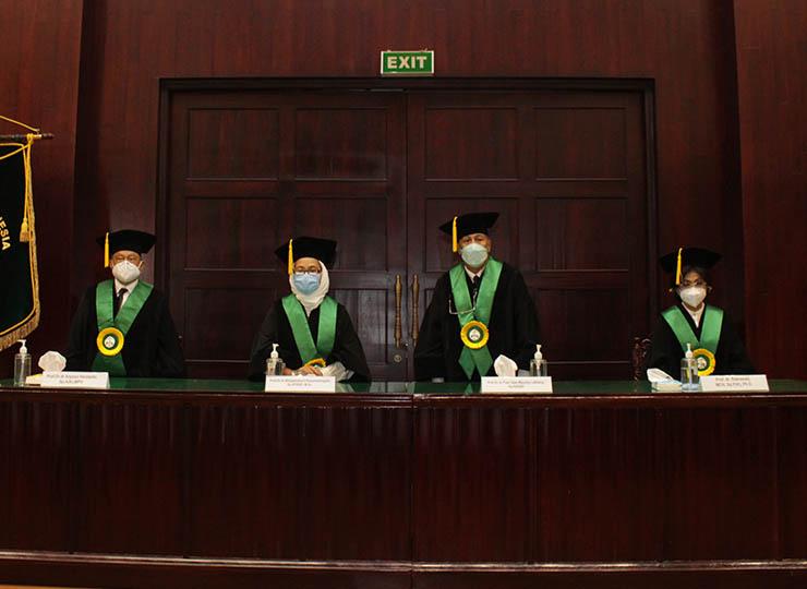 Pengukuhan Guru Besar Prof. Dr. dr. Najib Advani, SpA(K), M.Med(paed), Prof. Dr. dr. Aryono Hendarto Sp.A(K), MPH, Prof. Widjajalaksmi Kusumaningsih, SpKFR(K),MSc, Prof. Dr. dr. Toar Jean Maurice Lalisang, SpB(K)BD